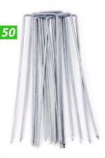 50 Picchetti Galvanizzati x Ancoraggio Telo Pacciamante 15x2,5cm Zincato a Caldo