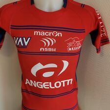 superbe maillot  de rugby BEZIERS macron taille s