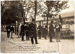 Fotografia di membri e ufficiali di Casa Savoia - Modena, 1913