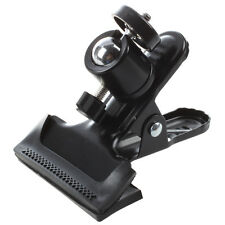 Metal Photo Studio Flash Spring Clamp Clip Mount With Ball Head--Black DT