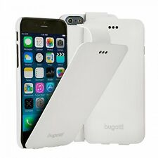 bugatti Funda para Apple iPhone 6 4.7 Blanco Bolsa, Protectora con tapa