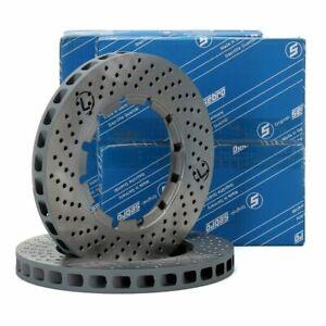 PAIR SEBRO DISCS FOR PORSCHE 911 3.3 SC Turbo 93035104800 & 93035104700