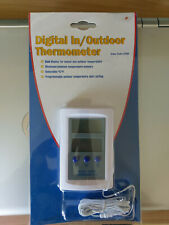 Digital indoor outdoor thermometer, dual display, programmable, brand new
