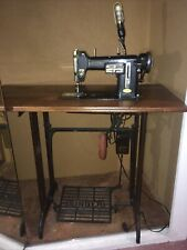 Vintage Necchi Bu Built In Sewing Machine With Knee Pedal Singer Foot Pedal
