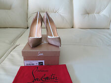 NIB Christian Louboutin Pigalle 100 Beige Suede Pumps 42 12 11.5 So Kate NEW