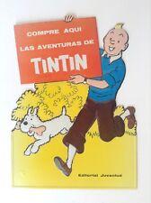 RARE superbe ancien PLV Tintin Juventud relief gaufré TRES TRES BON ETAT