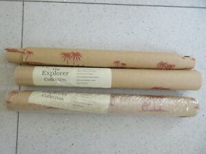 2 x Rolls Andrew Martin-The Explorer Collection Wallpaper-KHARTOUM/Camels -Red
