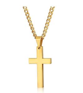 Men Cross Necklaces Pendants Stainless Steel Male Prayer Jewelry Friend Gift New