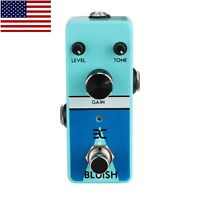 ENO EX Bluish Blues Overdrive Micro Guitar Effects Pedal Free US Shipping