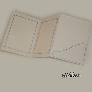 100 Stück weiße Verkaufsmappen Leporellos für Fotogröße 13 x 18 cm Silberrand