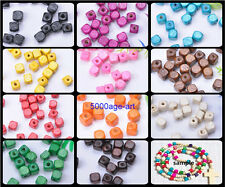 100pcs 300pcs Charms Square Cube Wood Spacer Beads Jewelry Making 8x8MM