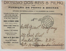 1932 Vila do Paco Portugal illustrated advertising cover USA Mining Company