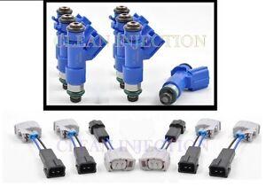 Honda Accord V6 J30A4 A5 RDX 410cc Denso Fuel Injectors clips adapters 2004-2007