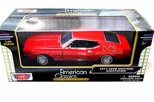 MotorMax 1971 Ford Mustang Sportroof Red 1/24 Diecast Cars 73327