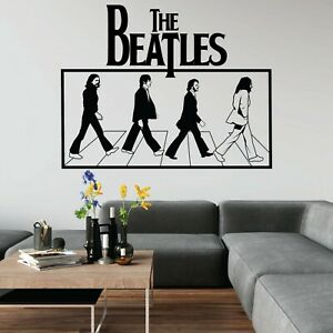 The Beatles Abbey Road Walk Lennon Music England Wall Art Sticker Home UK