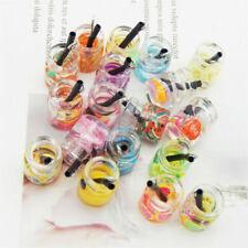 1PCS 22x11mm Fruit Slice Juice Glass Bottle Charms Pendant Jewelry Findings