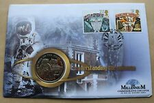 Millennium comprendre l'univers 1999 housse + isle man first man moon coin