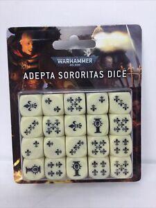 Warhammer 40K Adepta Sororitas Dice x20 Nib Free Shipping Sisters Of Battle