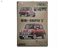 Metal Tin Sign mini cooper's winner Bar Pub Vintage Retro Poster Cafe ART