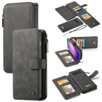 CASEME Detachable 2-in-1 Leather Wallet Case Cover for Samsung Galaxy S10 Plus