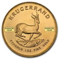 SPECIAL PRICE! Random Year 1 oz Gold South African Krugerrand - SKU #85815