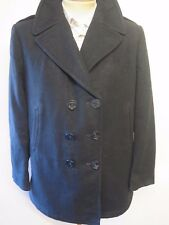 Vintage Ladies 2001 US NAVY PEA COAT Naval Clothing Melton Wool UK 16  Euro 44