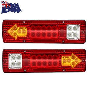 2X LED Tail Lights Stop Reverse Indicator 12V Ute Utv Trailer Caravan Truck Boat