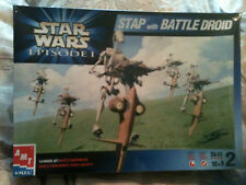 STAR WARS EP 1 STAP WITH BATTLE DROID Model Kit, AMT ERTL, Sealed, 1999, MIB