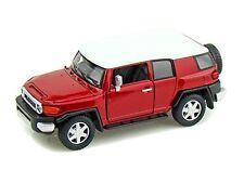 "Kinsmart Toyota FJ Cruiser SUV off road 1:36 scale 5"" diecast model car Red"