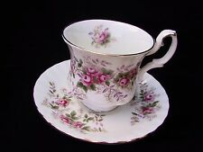 Royal Albert LAVENDER ROSE Coffee Duo - Cup and Saucer Eng 2nd c1970's