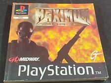 Maximum Force Spare Manual Only Sony Playstation 1
