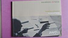 (R9_4) Hauswedell & Nolte. Rückschau und Ausblick. Review and Preview- 2007/1