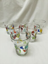 Set of Six Contemporary Hand Crafted Drinking Glasses