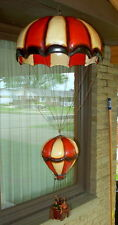 Vintage Unique Ceramic Parachute - Hot Air Balloon with 4 Riders Hanging Decor