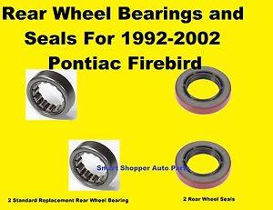 Rear Wheel Bearings and Seals For 1992-2002 Pontiac Firebird