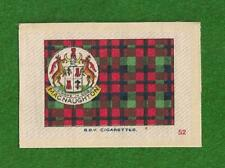 CLAN MACNAUGHTON  CLAN TARTAN & Coat of Arms 1922 original printed silk tartan