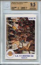 1985-86 Star Lakers Champs #7 Magic Johnson BGS 9.5 (pop 2)