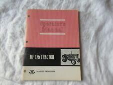 Massey Ferguson  MF 175 MF175  tractor operator's manual