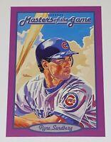 1993 Donruss Masters of the Game Jumbo Ryne Sandberg #5 MLB Chicago Cubs Card