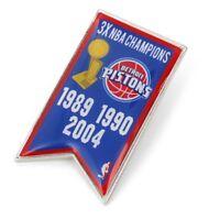 DETROIT PISTONS - CHAMPIONS - LAPEL/HAT PIN - BRAND NEW - NBA-PN-1064-12