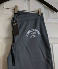 NWT- A&F Abercrombie & Fitch Women Logo Banded Sweatpants (Blue, M)
