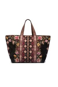 Johnny Was Nepal Velveteen Quilted Tote Bag - W02219-9