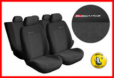Universal CAR SEAT COVERS full set fits Skoda Fabia  charcoal grey PATTERN 1
