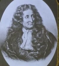 Jean de La Fontaine, French Fable Writer & Poet, Magic Lantern Glass Slide