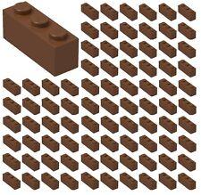 ☀️100x NEW LEGO 1x3 REDDISH BROWN Bricks Wall City Town Building Bulk Lot