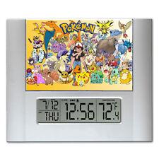 Pokemon Digital Wall Desk Clock with temperature + alarm