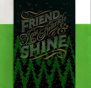 Merry Christmas Friend Friendship Sparkle & Shine Theme Hallmark Card