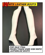 PHICEN/TBLeague Hot Tomoe Knee High White Boots fit 1/6 12 in scale Female Toys