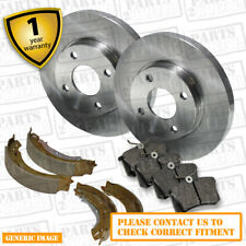 Daihatsu Trevis 1.0 Front Brake Pads Discs 211mm & Rear Shoes 165mm 57 06/06-