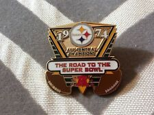 PITTSBURGH STEELERS:  COMMEMORATIVE PIN: 1974: AFC CENTRAL CHAMPIONS : PREOWNED